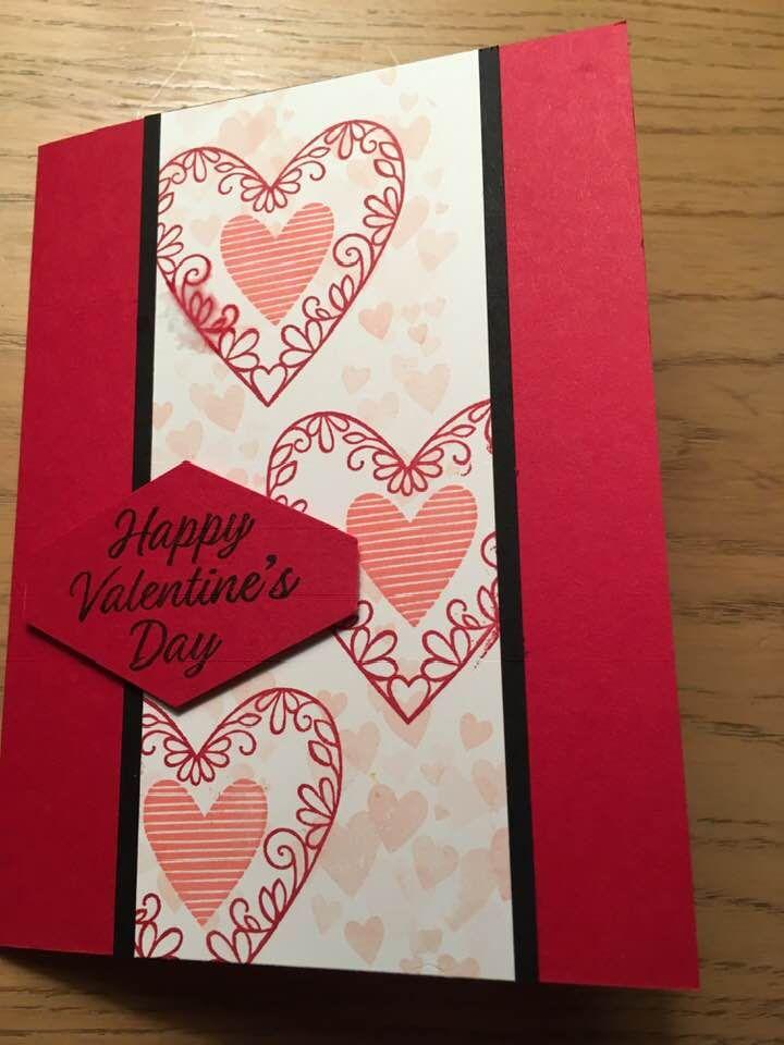 Valentine Pop Up Card Stampin Up Valentine Cards Valentines