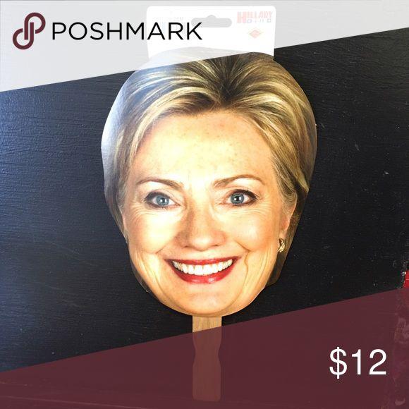 6 Hillary Clinton Masks on a stick! 6 Hillary Clinton Masks NWT HILLARY CLINTON Other
