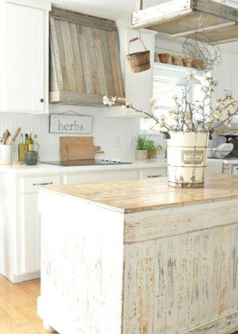 French Country Style - küchenarbeitsplatte aus holz