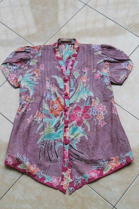 batik blouse - encim ungu -