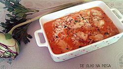 arroz de tamboril com gambas