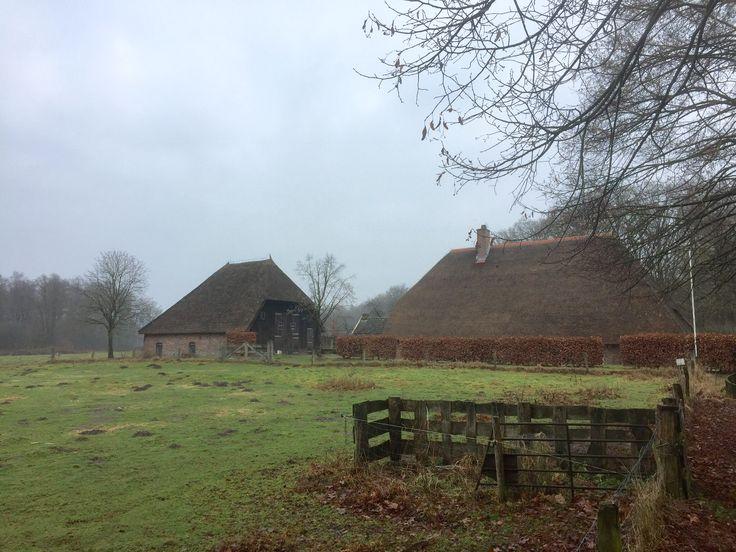 2017-02-04 Boerderij-bezoekerscentrum SBB Het Hoogenbrink nabij startpunt 't Nijendal tussen Wesepe en Diepenveen. Mooi wandelgebied