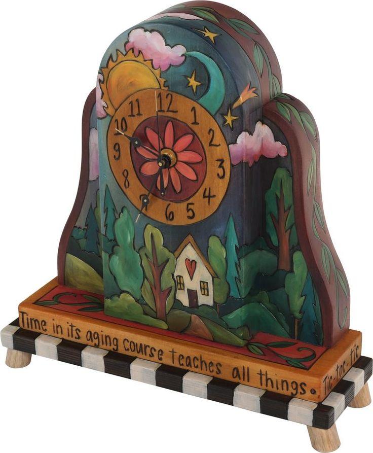 sticks handmade mantel clock - Mantel Der Ideen Mit Uhr Verziert