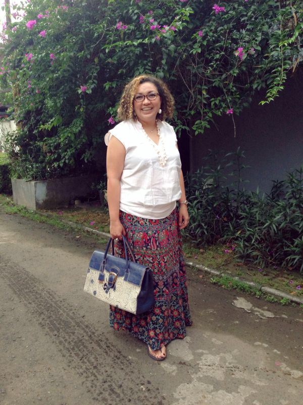 with BENGKALI Large Tote Bag & CIREBON Wedges by PRibuMI...®