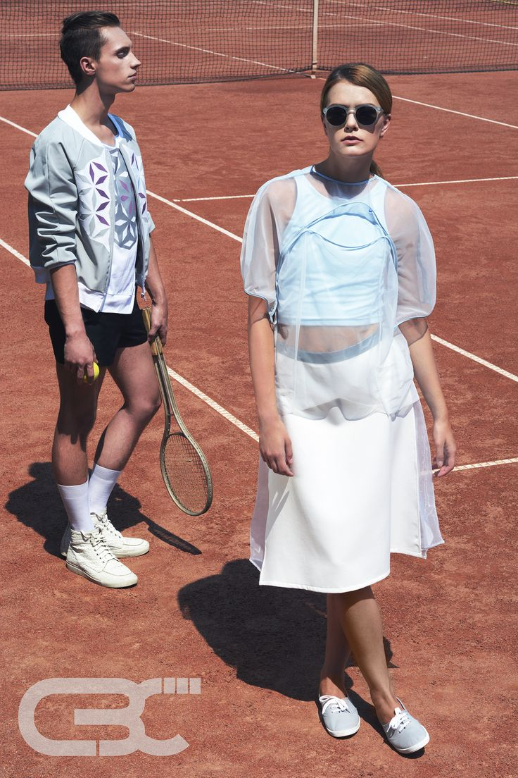 Tennis court. sportswear, unisex, fitness, sport, trends, campaign photos, mint top, sheer top, white midi skirt, grey bomber jacket, white tshirt. Order via facebook, pm or e-mail.