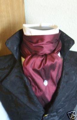 REGENCY Brummel Victorian Ascot Tie Cravat  Maroon by elegantascot, $26.00