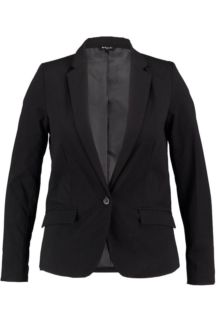 Black blazer | Fashion | Plussize fashion Getailleerde zwarte blazer