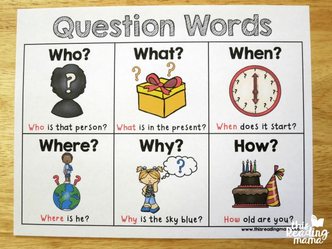 Question Words Worksheet For Kindergarten on grade sight, high frequency, sight he, color sight, find sight,