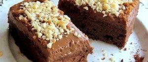 Čokoládové brownies se smetanovou pěnou