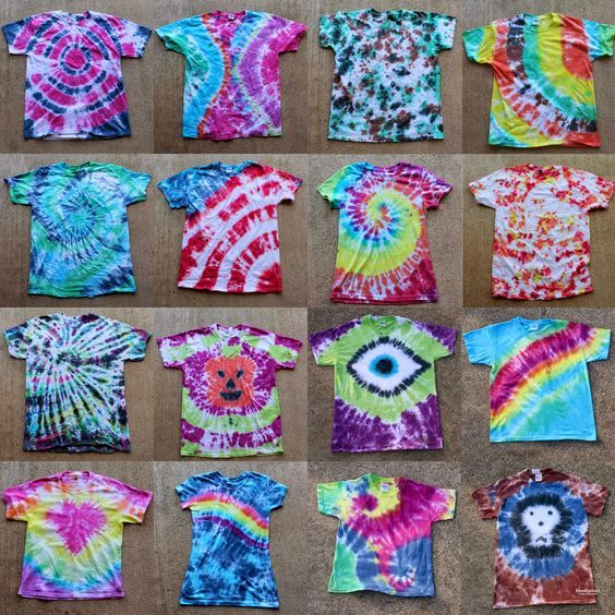 "Tulip Tie Dye T-shirt Party! ""How-to"" patterns and techniques!:"