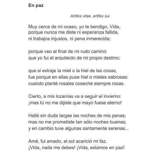 Significado del Poema En paz de Amado Nervo - Qué significa el ...