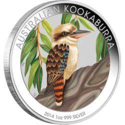 Melbourne ANDA Coin Show Special –  Australian Kookaburra 2014 1oz Silver Coloured Coin