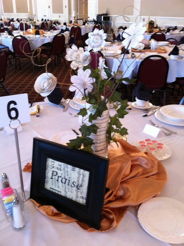 Music themed tablescape at the fall women s auxiliary