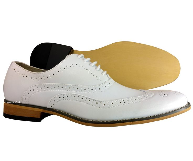 s wingtip oxford dress shoes uvsignature white with