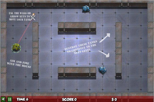 Free Games Online – Think Tanks.  Shooting War Army Games