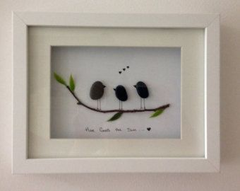 Home Is Wherever We Are Together Pebble Art by PebblePebbles