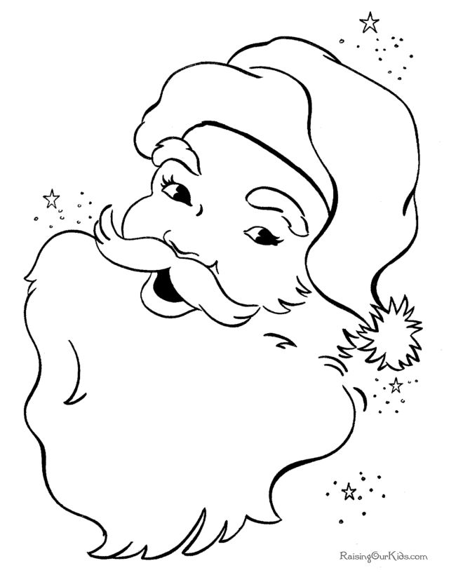 Cold Santa Claus Coloring Pages