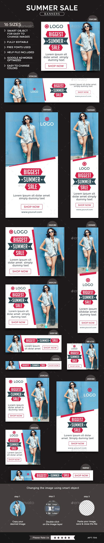 Summer Sale Banners Template #design Download: http://graphicriver.net/item/summer-sale-banners/11886510?ref=ksioks