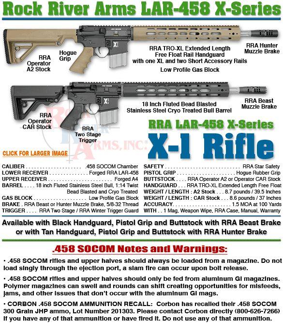 LAR-458 X-1 Rifle / .458 SOCOM