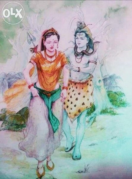 319 best Shiv Parvati paintings images on Pinterest ...