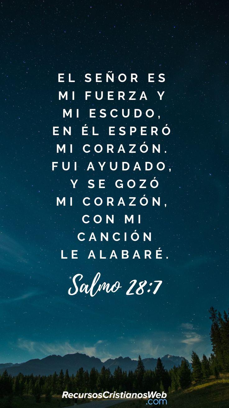 Versiculos Catolicos De La Biblia De Animo: Jehová Es Mi Fortaleza Y Mi Escudo; En él Confió Mi
