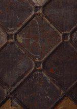 €359,00 Prezzo per rotolo (per m2 €81,41), Carta da parati stravagante, Tessuto base: Carta da parati TNT, Superficie: Liscio, Effetto: Opaco, Shabby chic, Design: Simil piastrelle di ferro smaltato, Colore di base: Marrone grigiastro, Colore del disegno: Marrone scuro, Oro, Blu grigiastro, Rame, Caratteristiche: Buona resistenza alla luce, Bassa infiammabilità, Rimovibile, Stendere colla sul muro, Spugnabile
