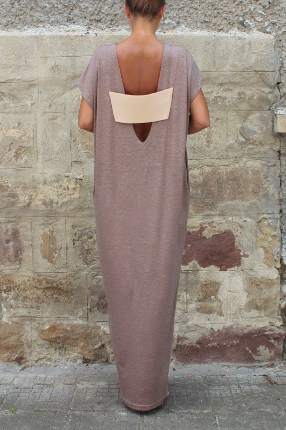 Backless Caftan Dress Mocha Oversized Dress por cherryblossomsdress