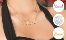 $35 for a Sterling Silver Name Plate Necklace (value can be used towards other items on the site)  NameJewelrySpot (a $ 99 Value)