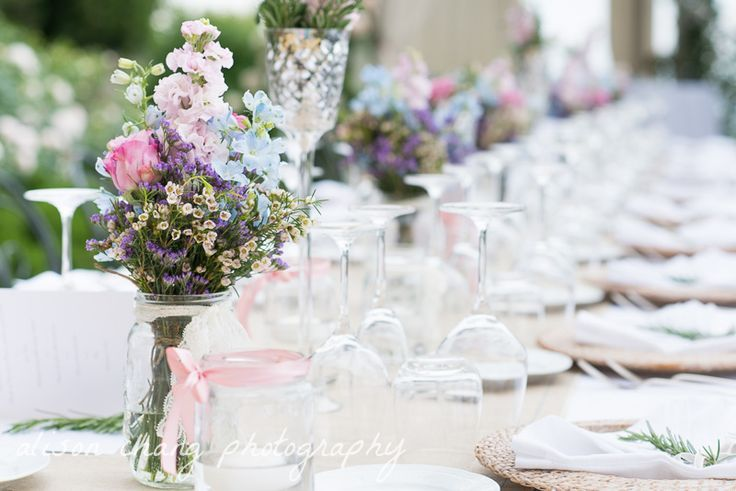 country chic flower arrangements