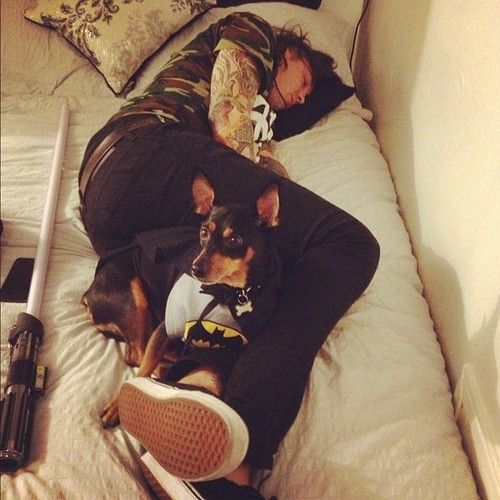Tony Perry. This picture is adorable and then you see the lightsaber and it makes it so much better