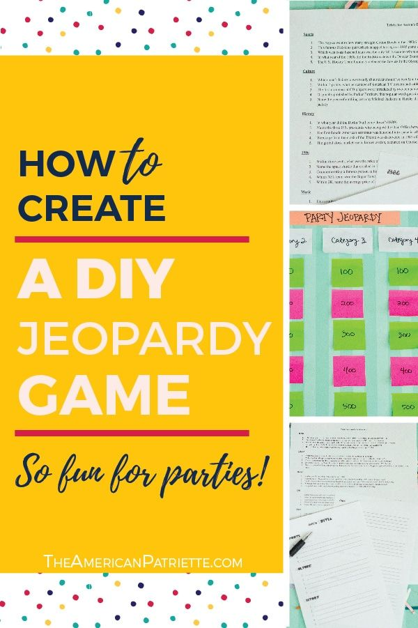 Category Ideas For Diy Trivia Or Jeopardy Games With Free Game Planning Printables Jeopardy Game Trivia Board Games Trivia