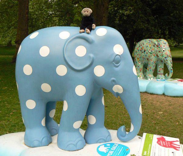 Mooch monkey at the London Elephant Parade - 001 Spotty.