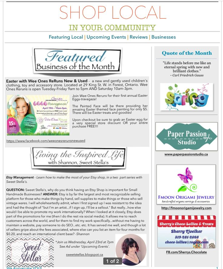 April Newsletter - Page 1
