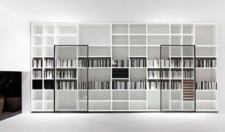 SYSTEM POLIFUNZIONALE   TV HI-FI - design by Piero Lissoni - Porro - bucherregal systeme presotto highlight wohnraum