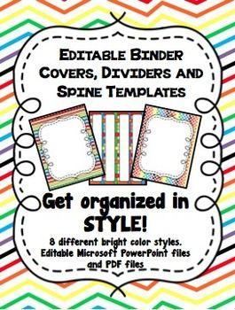 1 binder spine template
