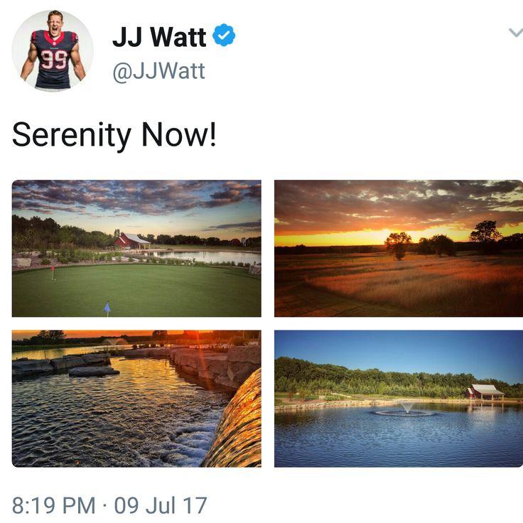 JJ Watt's Twitter - 7.9.17 - pics of JJ's  property in Wisconsin - #Home #DreamBigWorkHard #HuntGreatness #JustAKidFromPewaukee #Justincredible #HeEarnedIt