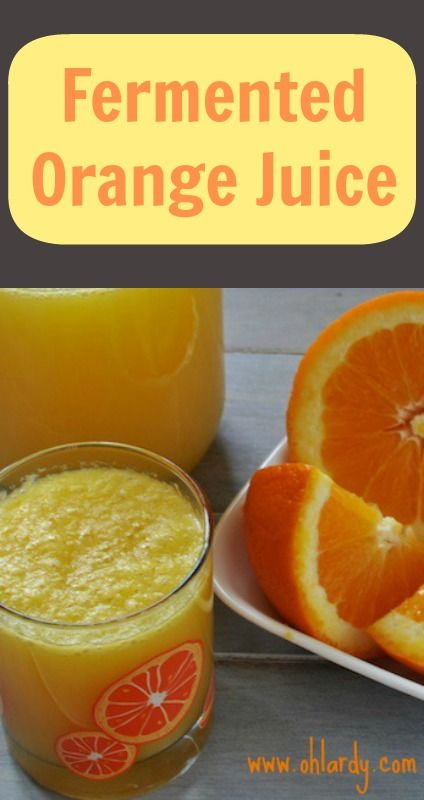 Fermented orange juice - an orangina-type drink