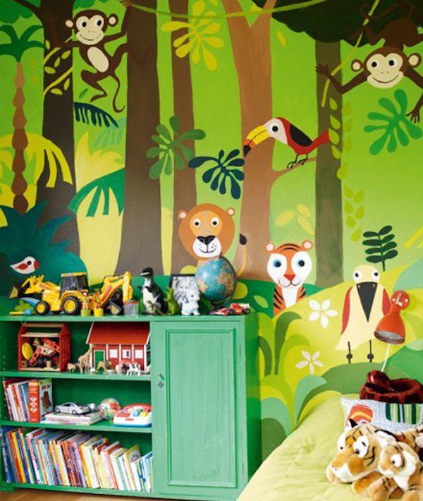 7 habitaciones infantiles con decoraci n de jungla for Mural para habitacion