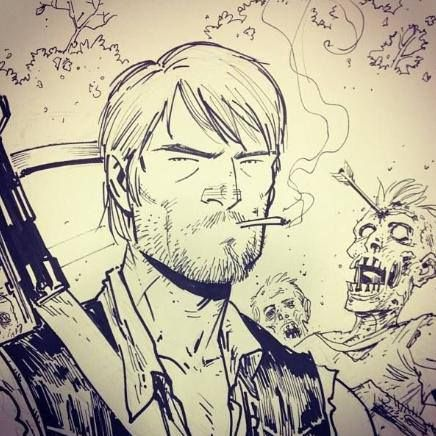 Former TWD artist Tony Moore drew a sketch of what Daryl Dixon might look like if he were to join the walking dead comic series.