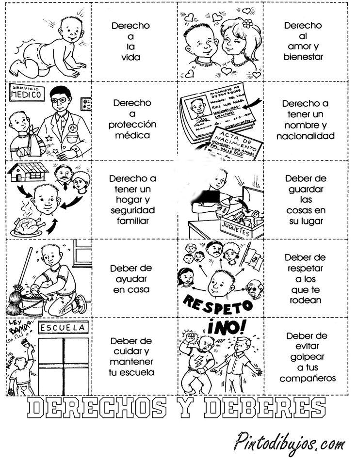Derechos y deberes de los niños para colorear | deberes y derechos ...