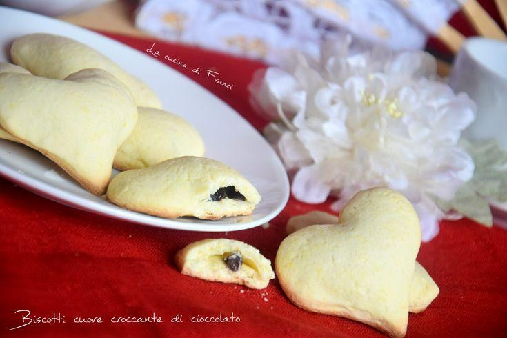 X la colazione di S.Valentino ❤ ❤ biscotti cuore croccante
