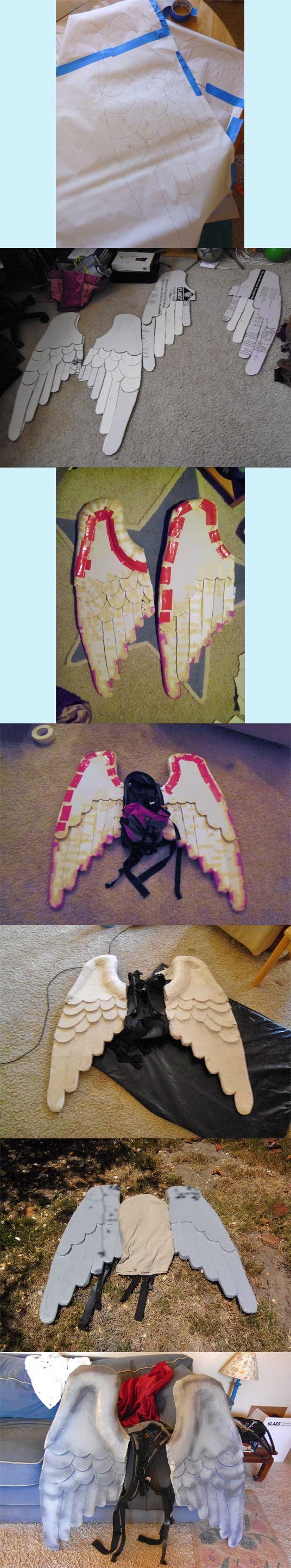 Weeping Angel Wings Process by ~DorkySpork on deviantART
