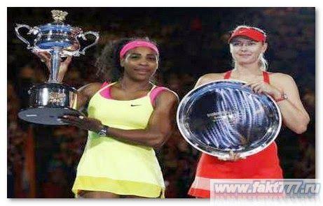 Серена Уильямс за 6 победу в Australian Open 2015, благодарит Иегову Бога  33-летняя теннисистка Серена Уильямс оказалась на вершине женского одиночного тенниса, с рекордом обыграв в Australian Open 2015, Марию Шарапову, 27-летнею российскую теннисистку  http://www.fakt777.ru/2015/02/serena-uilyams-za-6-pobedu-v-australian-open-2015-blagodarit-iegovu-boga.html