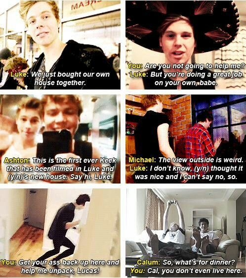 Imagine: After a few years of dating, you and luke decide to move in. (c) @5SOS_Imagining
