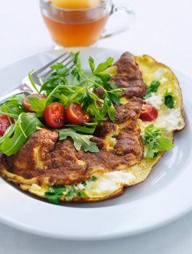 omelet med feta