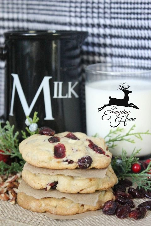 ... -from The Everyday Home: Cranberry-Pecan-White Chocolate Chunk Cookie