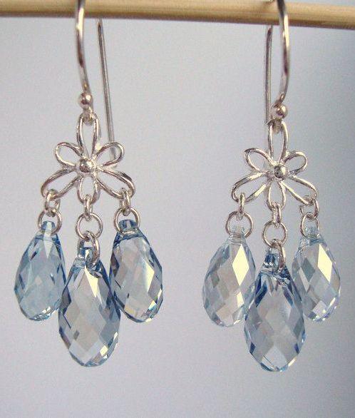 Crystal Blue Shade Swarovski Crystal 2 Inch
