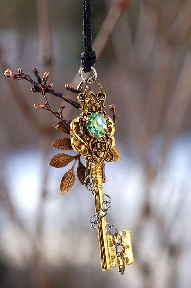 Forest of Magic Key Necklace by KeypersCove.deviantart.com on @deviantART