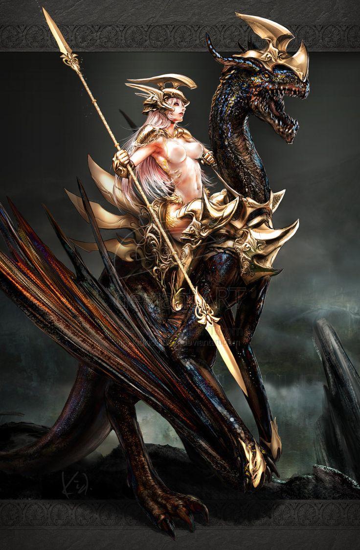 Dragon Rider by ~kidkidkidkid on deviantART