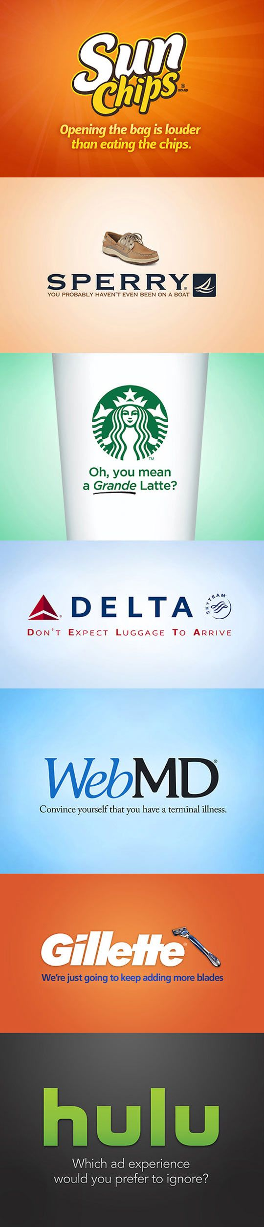 If companies were honest, the world would be a funnier place…